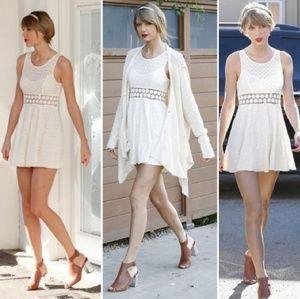 Free people ivory daisy waist dress size 12